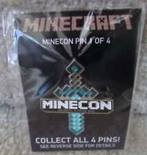 2013 Minecraft Minecon Diamond Sword Enamel Pin Rare on Card only 7500 Made