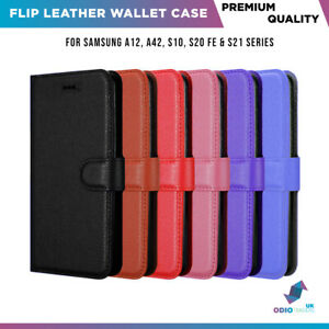 Flip Leather Case for Samsung Galaxy A21S A12 S9 S10 S20FE Magnetic Wallet Cover