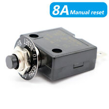 Circuit Breaker Reset 8 Amps Push button Thermal Boot Switch car boat