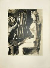 Pablo Picasso Lithograph Artist And Model Verve 29/30 First Edition Mourlot '54