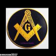Prince Hall Black/Gold Masonic Auto Emblem FreeMasonry Car Lodge Mason Freemason