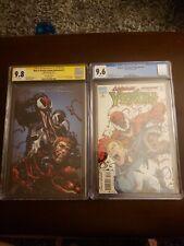 Web of Venom Unleashed #1 CGC 9.8 SS Crain Venom Carnage Unleashed #3 CGC 9.6 WP