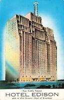 Postcard Hotel Edison New York