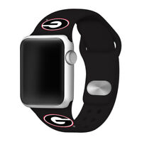 Georgia Bulldogs Silicone Sport Band Compatible With The Apple Watch