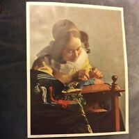 Vintage Print - The Lace-Maker - Jan Vermeer