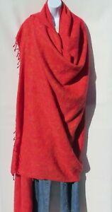 Blanket/Throw | Yak Wool Blend |Nepal |Handmade |Over-Sized | Red & Yellow