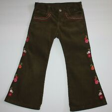 Gymboree Butterfly Girl Embroidered Corduroy Pants size 4