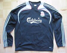 The Reds FC LIVERPOOL Training Sweat Top ADIDAS Clima Warm 2008-09  adult SIZE L
