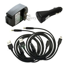 2 USB Cord+Car+Wall Charger for Sony Playstation PSP-110 1001 1000 2000 100+SOLD