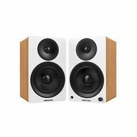 "Fluance Powered 5"" Bookshelf Speakers for Turntable, PC, HDTV & Bluetooth Music"