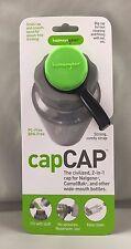 Human Gear CapCAP Narrow Mouth AND Wide Mouth Nalgene Bottle Cap/Lid Black/Green