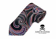Lord R Colton Masterworks Tie Black Red Blue Supremacy Silk Necktie - $195 New
