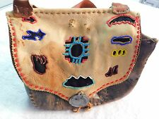 Collector Quality Fur Trade Black Powder Leather Possibles Bag Old