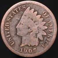 1907 | U.S.A. Indian Head One Cent | Bronze | Coins | KM Coins