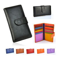 Women Genuine Real Leather Credit Card Business Name Holder Wallet Purse Case