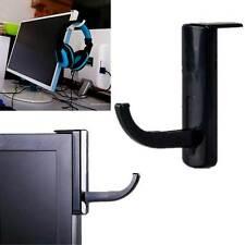 NUOVO supporto stand cuffie adesivo tavolo schermo salva spazio NERO