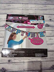 2x Monster High Jumbo Letter Age Banner Kit 10 ft Long  Birthday Party Supply