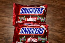 SNICKERS Christmas Holiday Minis Size Chocolate Candy Bars, 2 Packets