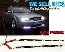 2pc LED DAYTIME RUNNING LIGHT 5050 SMD FLEXIBLE 30CM STRIPS COOL WHITE, AUDI VW