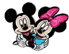 DISNEY - MICKEY &  MINNIE MOUSE -IRON ON PATCH - CARTOON - MOVIES - SIMPLICITY