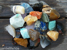 "1 LB BULK BRAZIL MIX  LARGE 1""+ Rough Crystals Rocks Stones 2200+ CARATS"