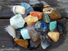 "1 LB BULK BRAZIL MIX  LARGE 1""+ Rough Crystals Rocks Stones 2200+ CARATS"