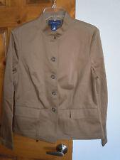 Charter Club women's long sleeve button-down casual jacket size 10 tan