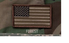 "Morale Patch Milspec Monkey MSM - AMERICAN USA US FLAG - 3.25"" x 2"" FOREST CAMO"