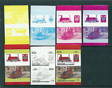 St Vincent Union Is 1987 60c Trains colour separations set of 7 unmounted mint.
