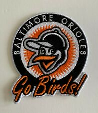 BALTIMORE ORIOLES VINTAGE STYLE PATCH FROM 1967 GO BIRDS! BROOKS FRANK ROBINSON