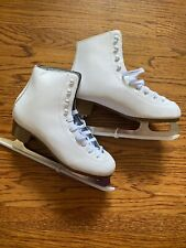 Girls DBX Figure Skating Ice Skates Size 7 White