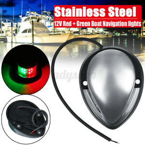 LED Starboard Port Navigation Light Nav Lamp Marine Boat Yacht Stainless Steel
