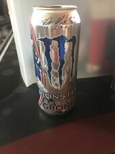 """MONSTER ENERGY DRINK NEW SEALED ROB GRONKOWSKI """"GRONK"""" SPECIAL EDITION CAN"""