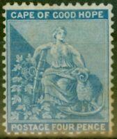 Cape of Good Hope 1876 4d Dull Blue SG30 Good Mtd Mint