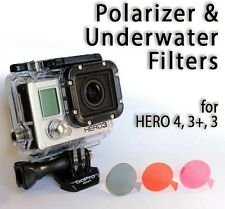 3 Pack - Polarizer and Underwater Filters Red Magenta compatible with GoPro®