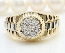 .70CTW Natural VS2 / G-H DIAMONDS in 14K Solid Yellow Gold Men Ring