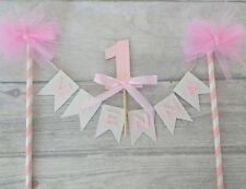 Personalised first bunting & number birthday cake topper cake smash 1st ANY AGE