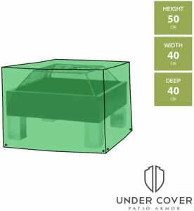 Square Fire Pit Cover - 40cm Width Waterproof Outdoor Cover 50cm Height