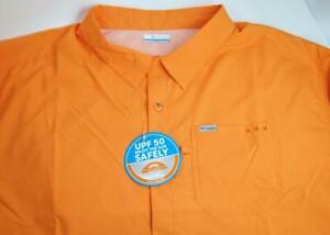 Columbia Big Tall Mens 5XLT PFG Slack Tide Camp Shirt Short Sleeve Button Front