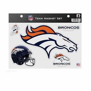 Rico Industries NFL Die Cut Team Magnet Set Sheet - Denver Broncos
