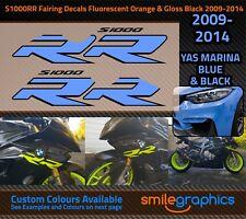 BMW S1000RR Fairing Decals. 2009-14 - Yas Marina Blue & Black Stickers