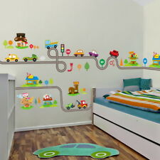 UK Cars Highway Track Wall Stickers For Kids Rooms Sticker Decor Wall Art Decals