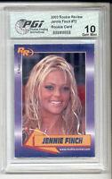 Jennie Finch Rookie Review Card #72 PGI 10 softball jenny