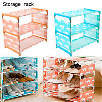 3 Tier Storage Shoe Rack Hallway Organizer Shoe Cabinet Shelf DIY Home Furniture