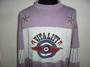 vintage Vitality sweatshirt 80er jumper pullover 80s lila sport oldschool XL
