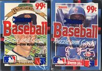 LOT OF 2 NEW/SEALED 1988 DONRUSS/LEAF BASEBALL CARDS-STAN MUSIAL PUZZLE