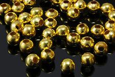 Metallperlen 2/3/4/5/6/7/8/10/12/14 mm Großlochperlen Perlen Kugel Spacer, S2