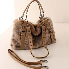 Women's Faux Fur Handbags Large Crossbody Shoulder Satchel Casual Bags Winter