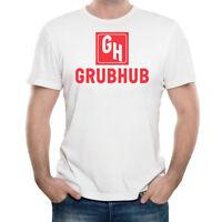 Men's Size XL GRUBHUB Logo T-Shirt 100% Cotton Shirt NEW with FREE Shipping