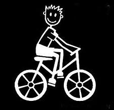 Figura de palo de mi familia Pegatinas de Vinilo Ventana de Coche B11 Bicicleta Ciclismo Bmx Niños